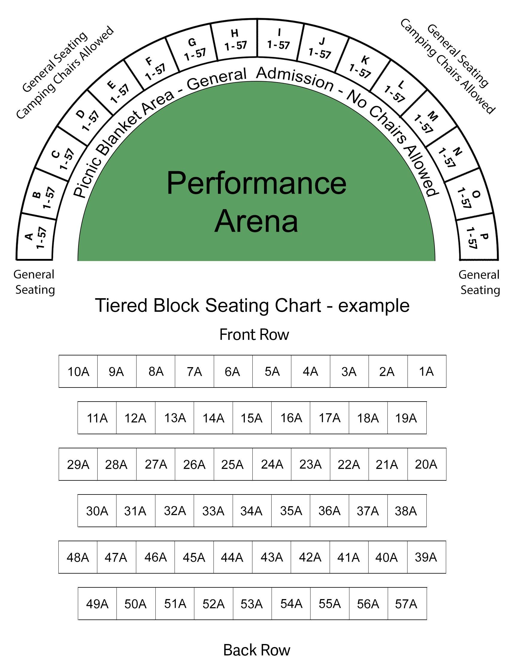 Seating Map for Stadium